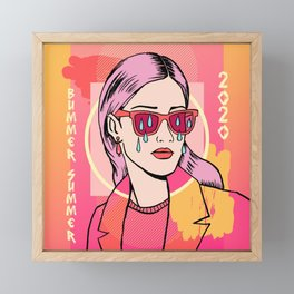 Bummer Summer Gurl Framed Mini Art Print
