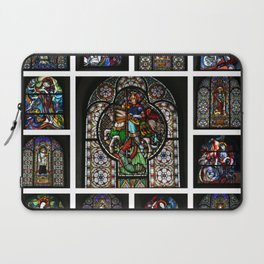 Stained Glass Windows Collage Laptop Sleeve