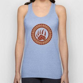 Bear Spirit (Maroon) Unisex Tank Top