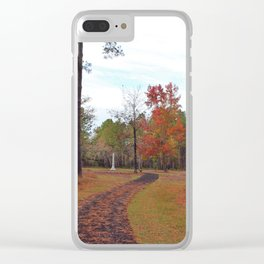 Autumn At The Battlefield Clear iPhone Case