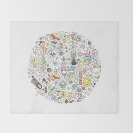 Ghibli Love Circle Throw Blanket