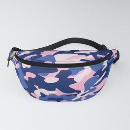 Blue Pink Camouflage Fanny Pack