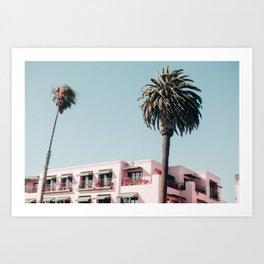 Pink Building Downtown Santa Monica California Art Print