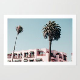 Pink Building Downtown Santa Monica California Art Print