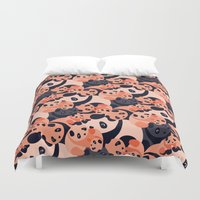 pandas Duvet Covers featuring Somos Pandas by Pamku