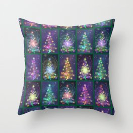 Christmas greetings from the cosmos Throw Pillow