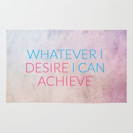 Whatever I Desire I Can Achieve Rug