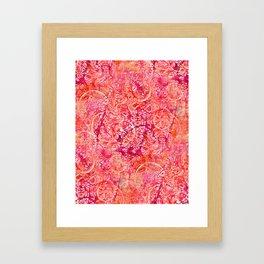 Abundance, Abstract Art Circles Grunge Framed Art Print