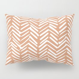 Mudcloth Striped Pattern, Burnt Orange Pillow Sham