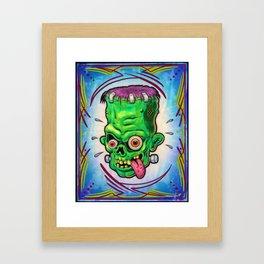 FrankenHead Framed Art Print