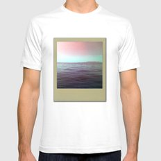 The sea of my hometown SMALL White Mens Fitted Tee