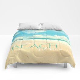 Beach time Comforters