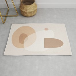 Soft Abstract Shapes 06 Rug