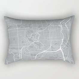San Francisco Map, California USA - Pewter Rectangular Pillow