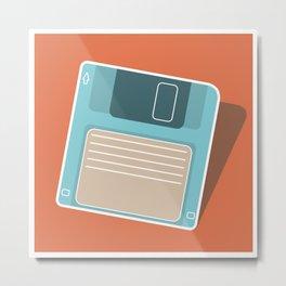 90's Retro Floppy Disk Metal Print