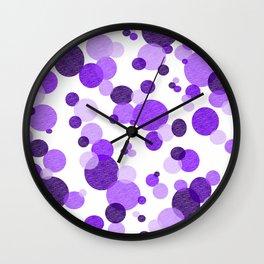 Purple Polka Wall Clock