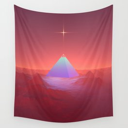 Blue Pyramid Wall Tapestry