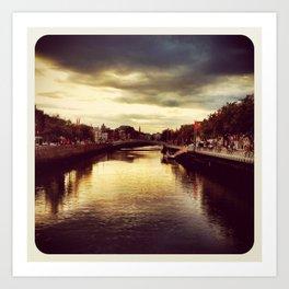 Liffey River - Instagram Art Print