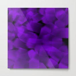 Translucent Stripes of Purple Ribbon Metal Print