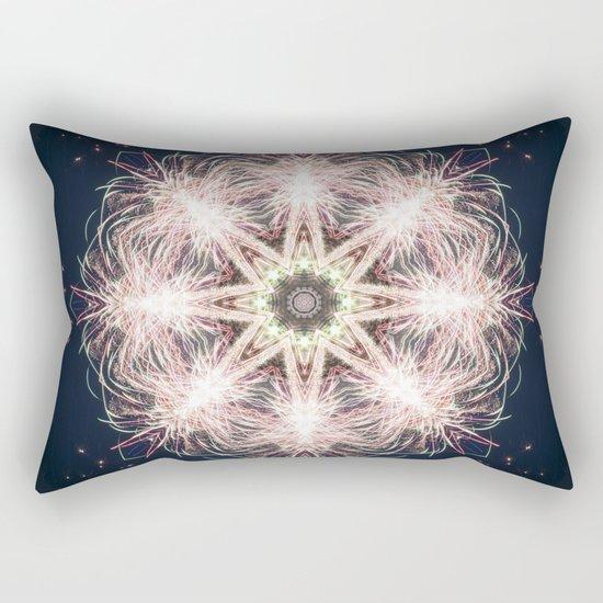 New year colorful sparkly fireworks mandala Rectangular Pillow