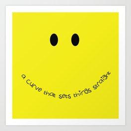 Yellow Smile Art Print