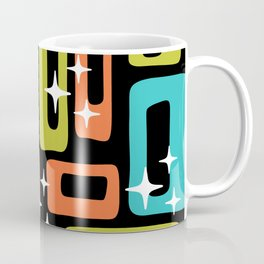 Retro Mid Century Modern Abstract Pattern 222 Orange Chartreuse Turquoise Coffee Mug