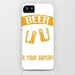I make Beer disappear iPhone Case