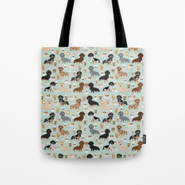 Dachshund coffee lover must have pet gifts dachsie doxie dog weener dog Tote Bag
