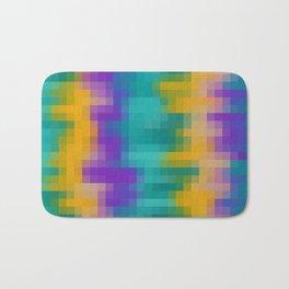 green yellow and purple pixel background Bath Mat