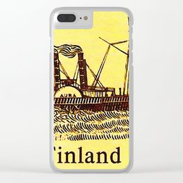 Paddle-steamer Clear iPhone Case