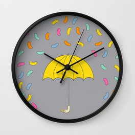 Jellybean Rain Wall Clock