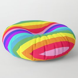 Stripes of Rainbow Colors Floor Pillow