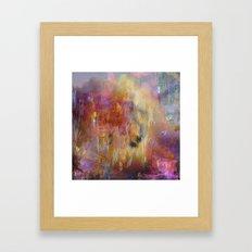 Holi Smoke Framed Art Print