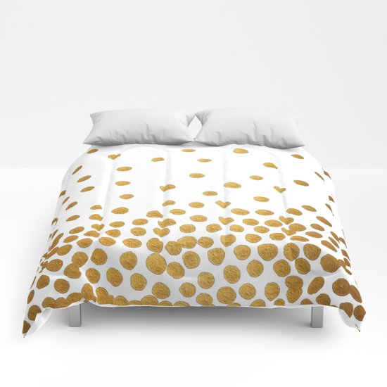 Gold Bubbles Comforters