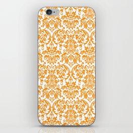 Elegant Damask Pattern (orange) iPhone Skin