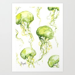 Jellyfish Pattern Art Print