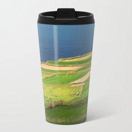 Pastures and lighthouse Travel Mug