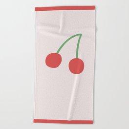 Cherries Beach Towel