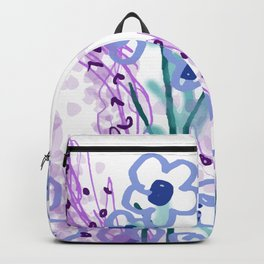 Waterlilies pink turquoise II Backpack