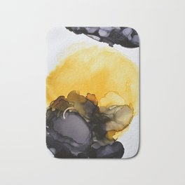 Black & Yellow Smoked Bath Mat
