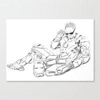 tony stark Canvas Prints featuring Iron Man (Tony Stark) by  Steve Wade ( Swade)