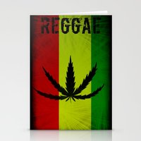 reggae Stationery Cards featuring REGGAE by shannon's art space