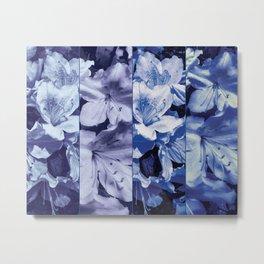 Light ultra violet azalea bush as photographed panels with varying tones Metal Print