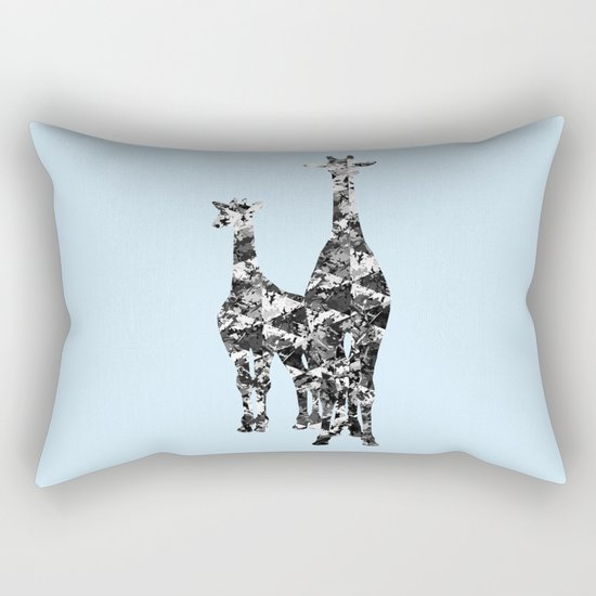 Patchwork Giraffes  Rectangular Pillow