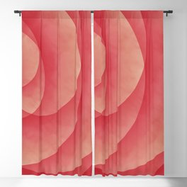 Modern abstract digital multicolor artwork 639 with spirals Blackout Curtain