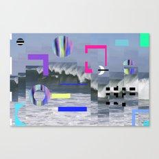 Geometric Wavez Canvas Print