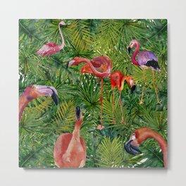 Aloha- Flamingo Bird Jungle Metal Print