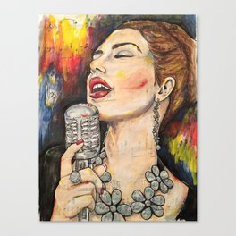 Jazz Singer 3 Canvas Print
