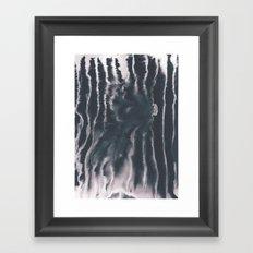 F-Tie dye- blue & white Framed Art Print