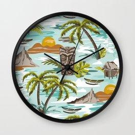 Lost Paradise Wall Clock
